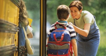 Picture of children getting on the bus