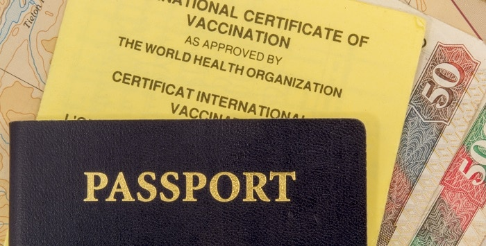 Image of Passport and Vaccinations