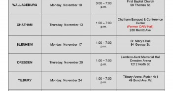 2014 CKPHU Flu Clinic Schedule