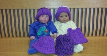 Jack & Jill purple hats