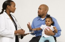 Picture of family meeting with doctor