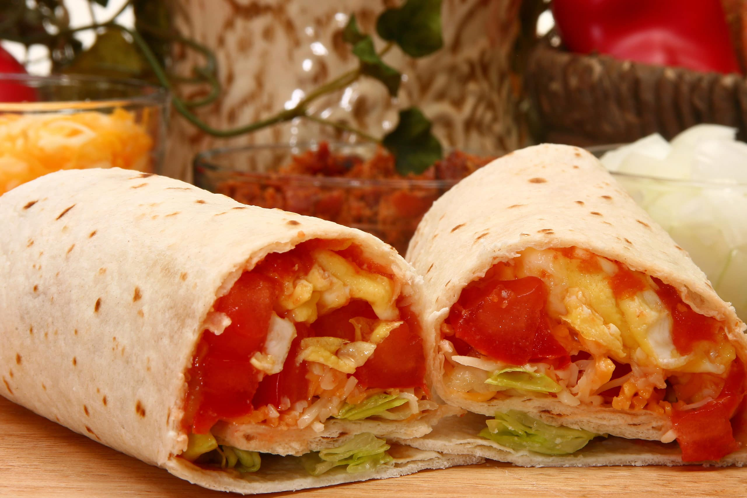 Picture of breakfast burrito