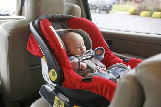 Picture of infant in a car seat