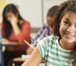 Picture of young girl in class