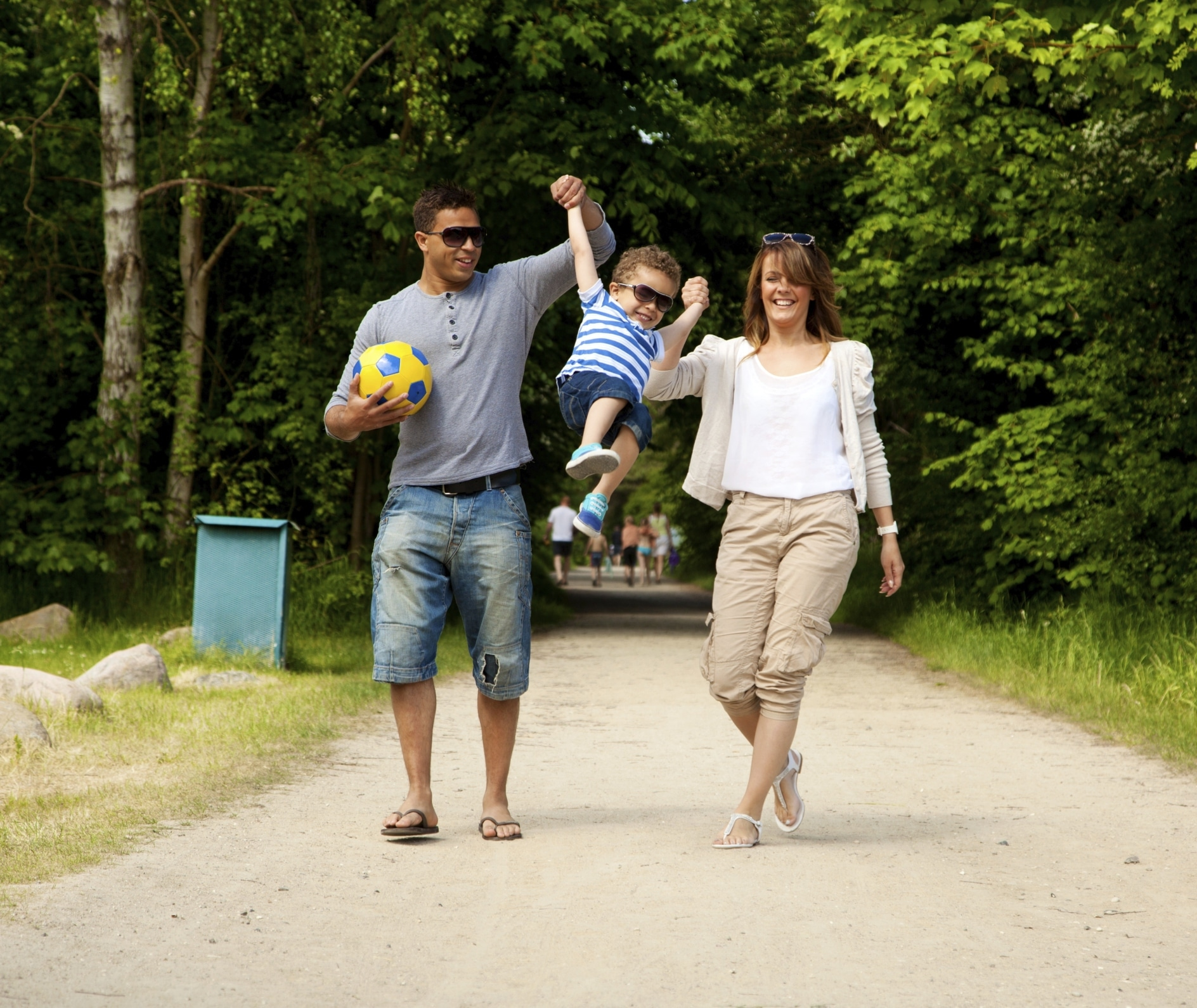 Picture of couple playing with son