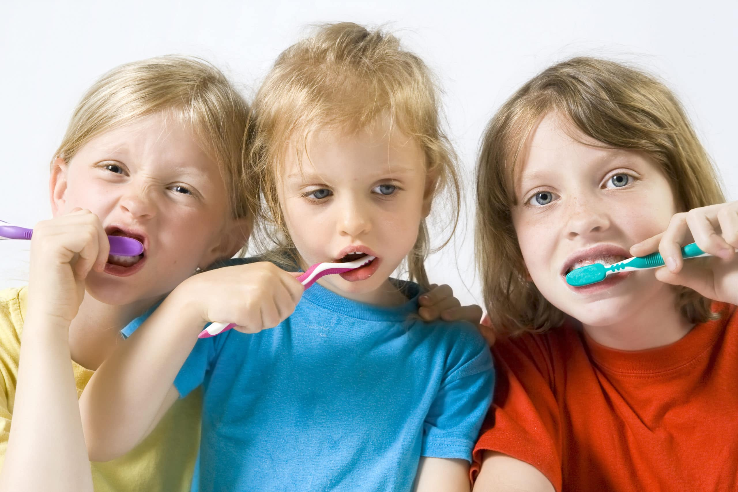 Picture of children brushing their teeth