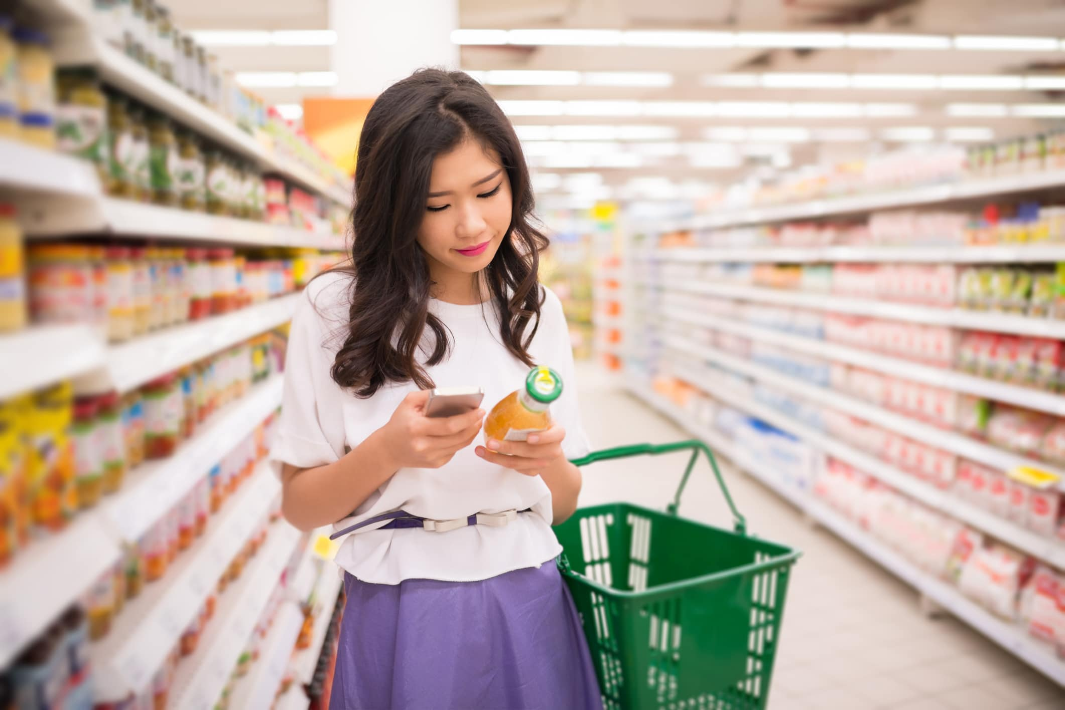 Picture of girl in supermarket