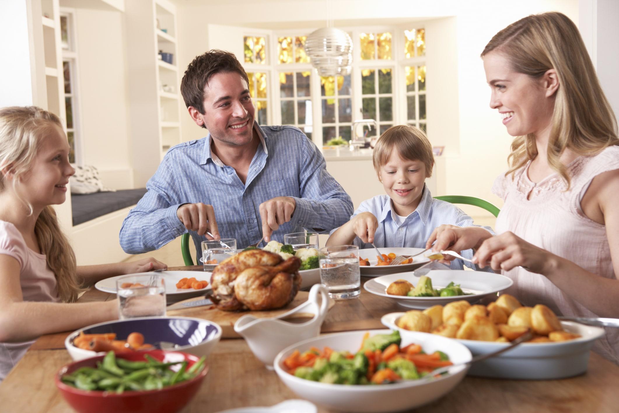 Picture of family having dinner