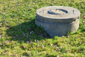 concrete well