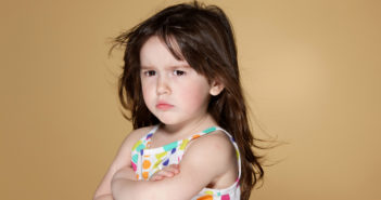 Image of an angry toddler