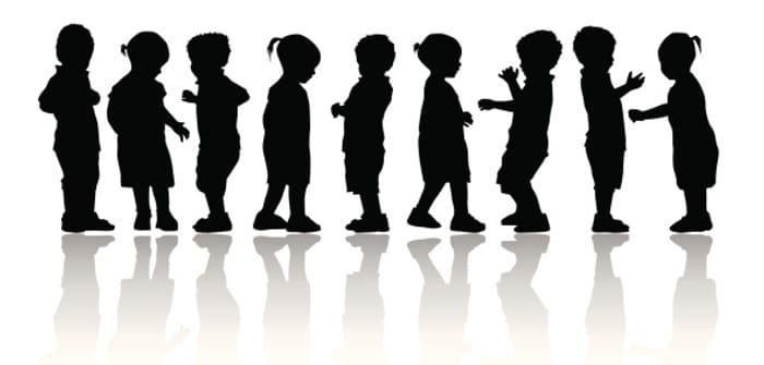 Children Silhoutte illustration