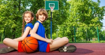 Picture of kids on basketball court