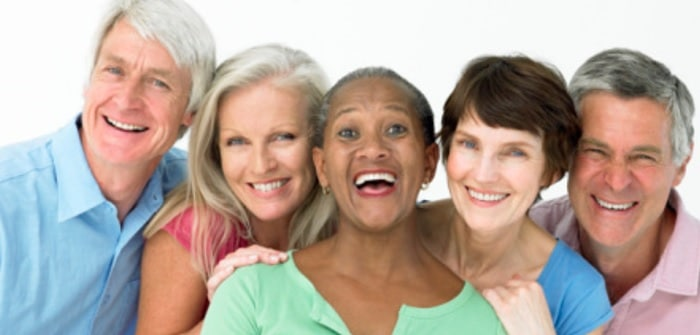 Image of seniors smiling