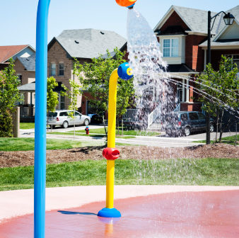 Image of an operational splash pad