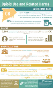 Infographic about opioid use and related harms