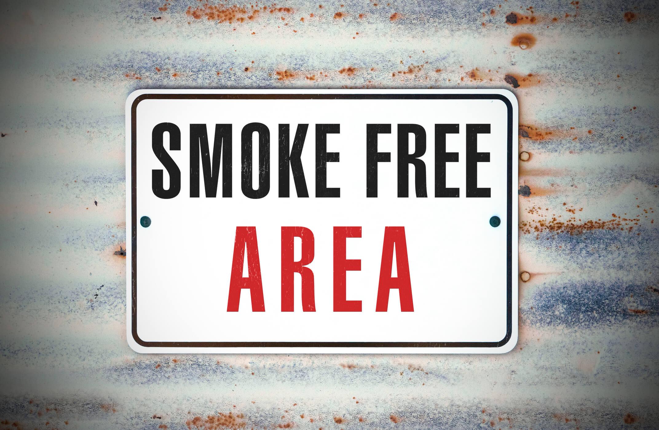 Smoke free area poster