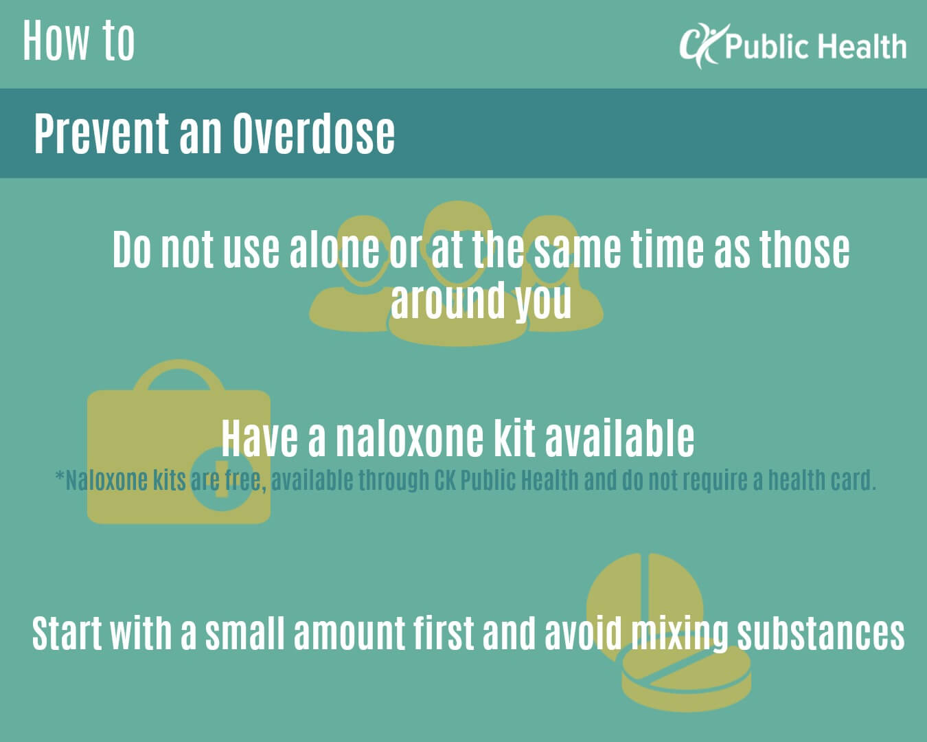 How to prevent an overdose