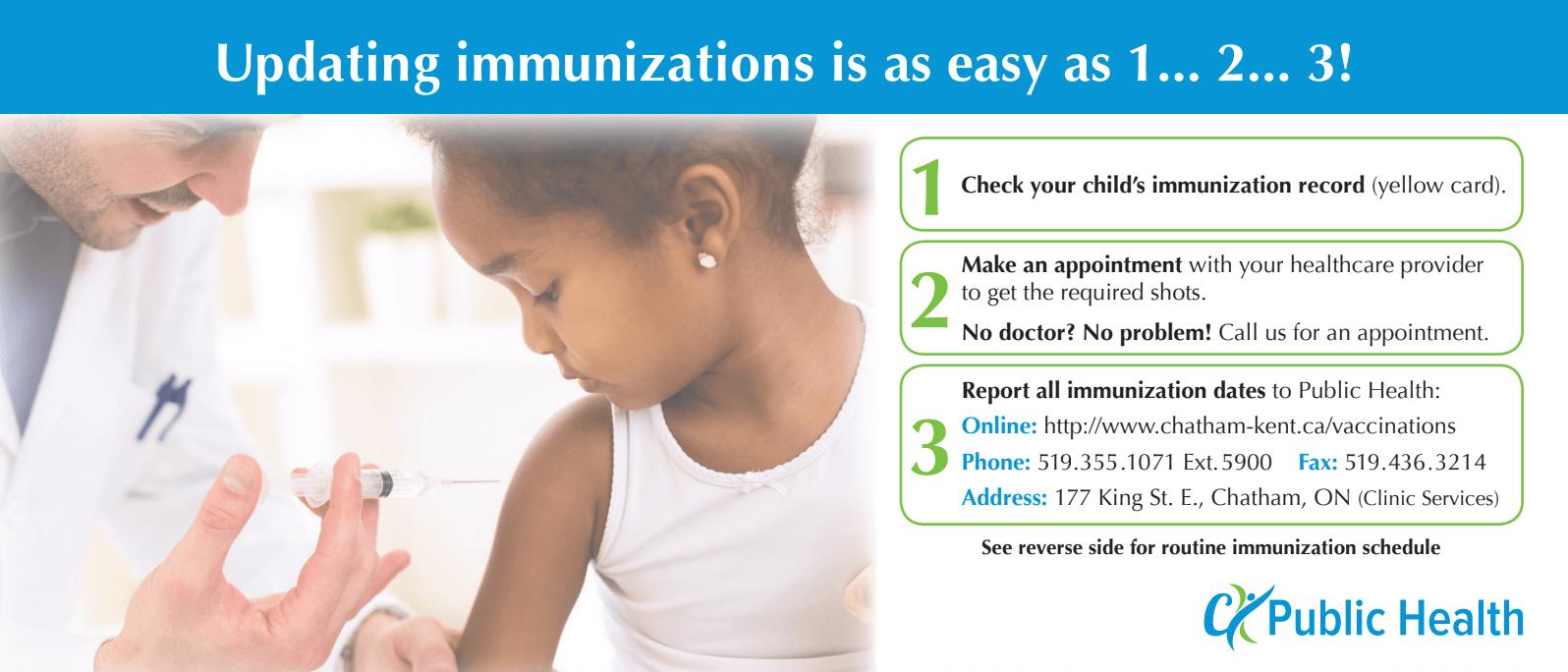 Updating Immunizations