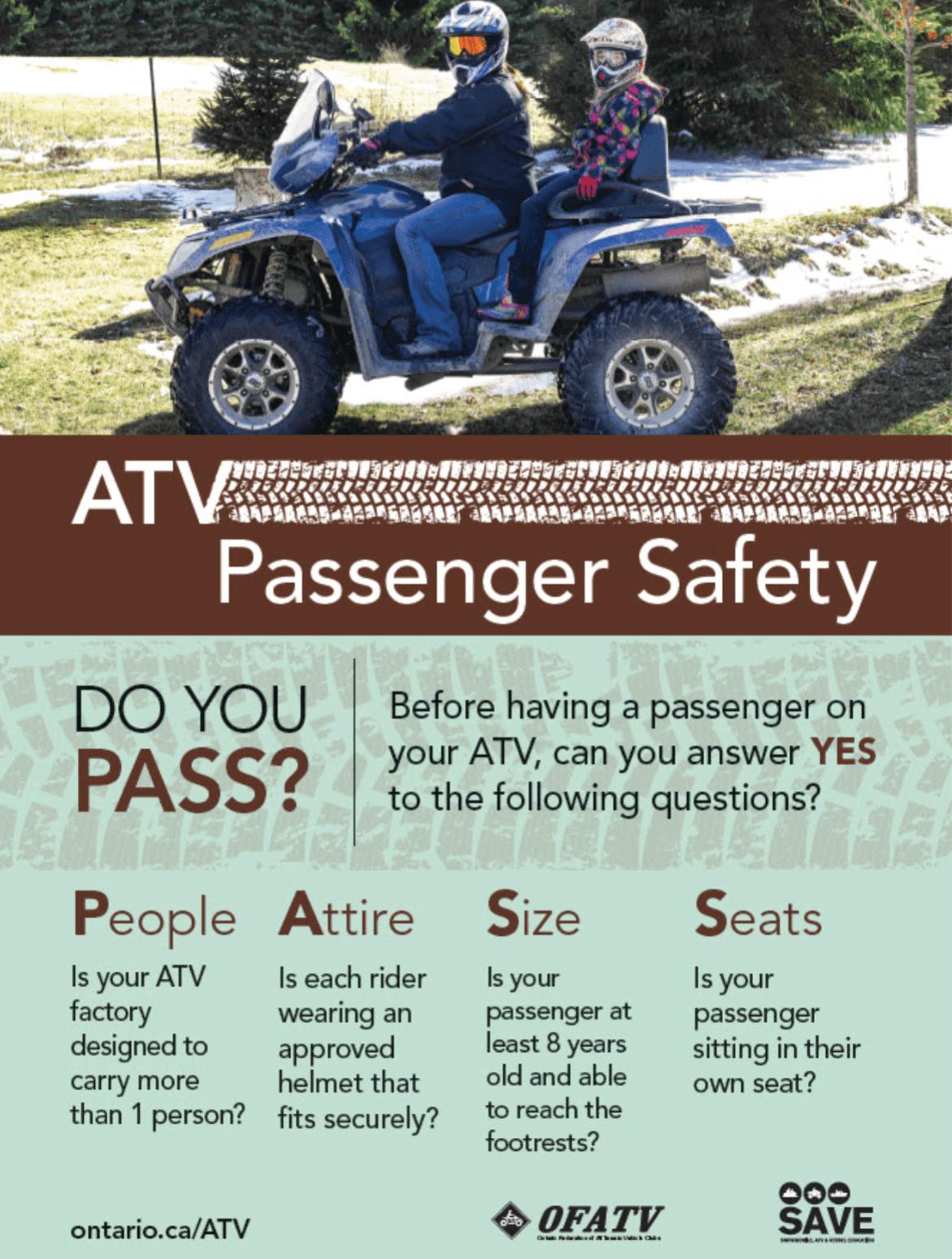ATV Passenger Safety Poster