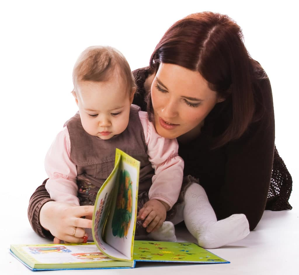 Picture of Mother and Daughter Reading