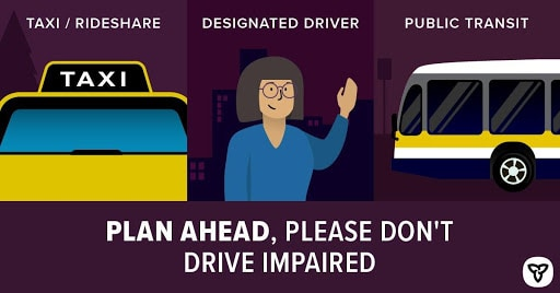 Don't drive impaired poster