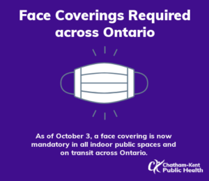 masks required in ontario