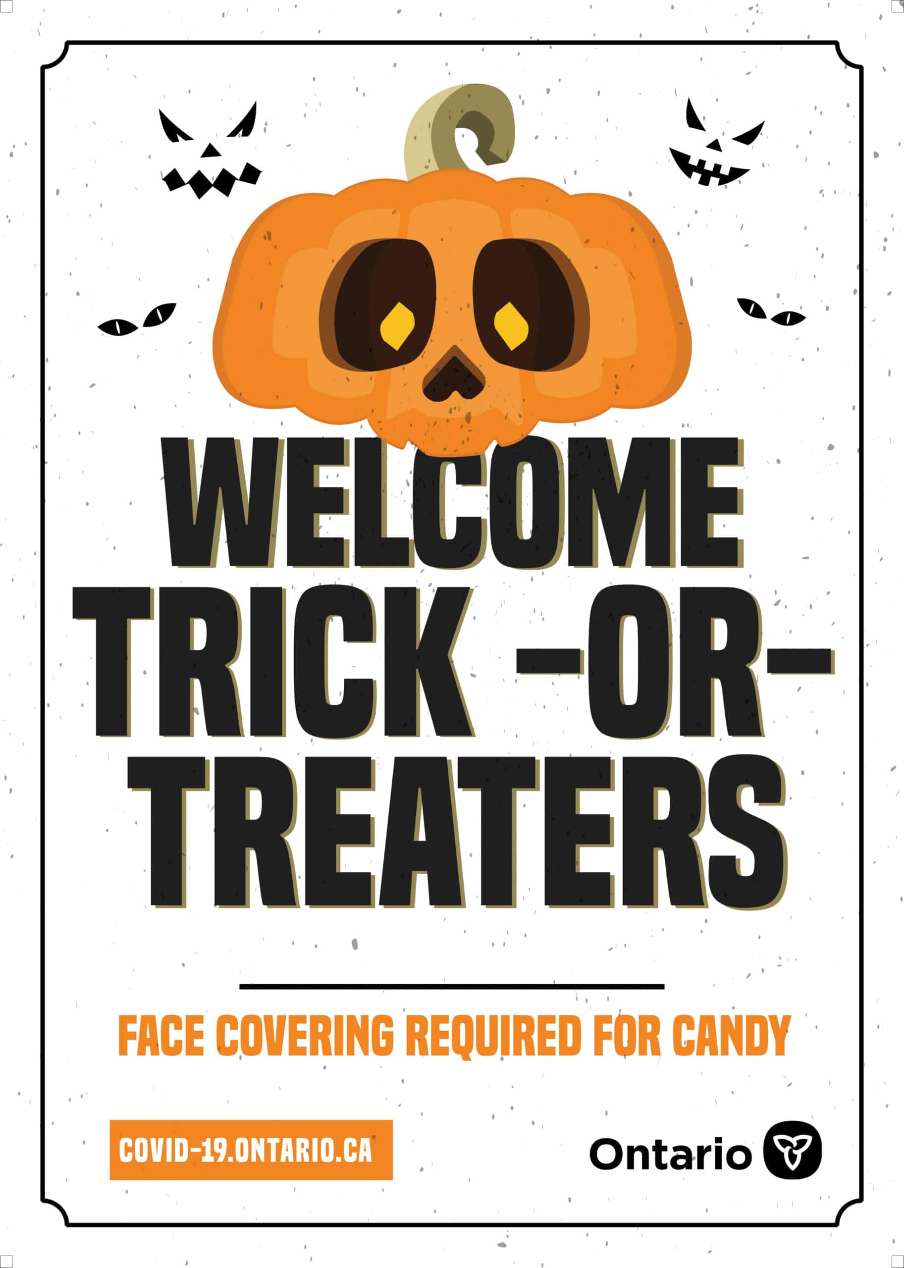 welcome trick or treaters