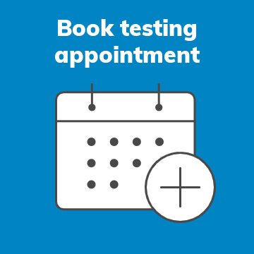 Book Testing Appointment